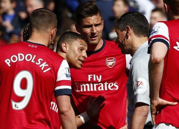 Arsenal Oxlade-Chamberlain Giroud Andre Marriner