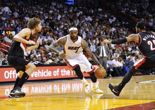 LeBron James Miami Heat Portland Trail Blazers