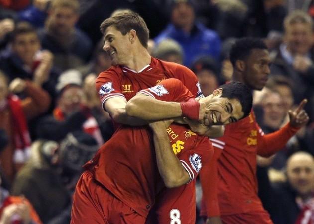 Liverpool Steven Gerrard Luis Suarez