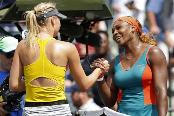 Serena Greets Sharapova