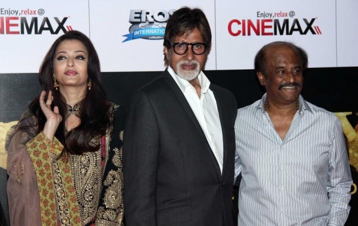 Aishwarya Rai Bachchan, Amitabh Bachchan, Rajinikanth at