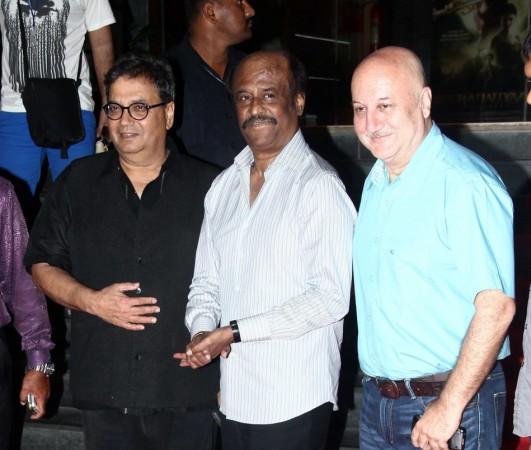 Subhash Ghai, Rajinikanth and Anupam Kher