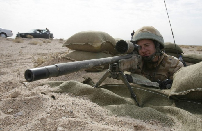 """In what has been referred to as """"a record breaking shot"""" a British sniper killed six Taliban fighters simply by triggering one shot. (Representational Picture: Reuters)"""