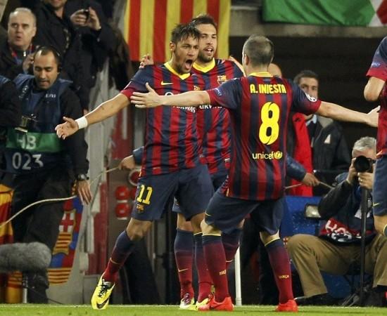 Neymar Andres Iniesta Jordi Alba Barcelona