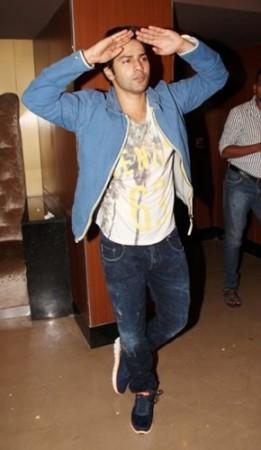 Varun Dhawan with his fans at PVR Juhu