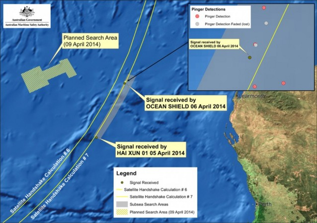 Two more sets of signals possibly linked to the missing Malaysia Airlines flight MH370 have been detected, Australian authorities said Wednesday. (Photo: AMSA Press Release)