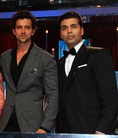 Hrithik Roshan and Karan Johar