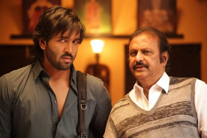 Mohan Babu (Right) with Vishnu Manchu - Rowdy Poster