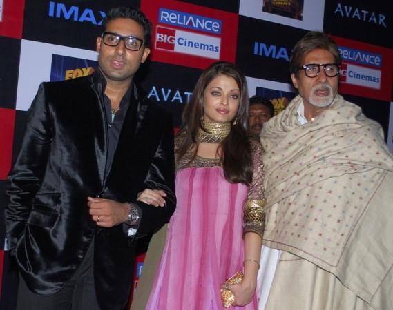 Aishwarya Rai, Abhishek and Amitabh Bachchan