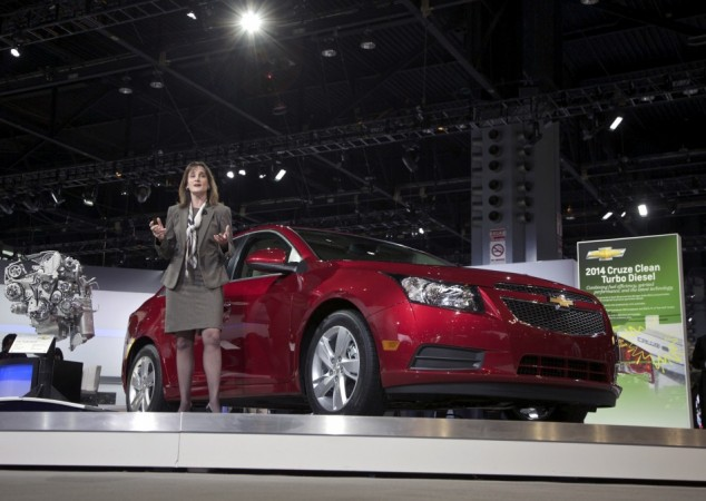 Cristi Landy, Chevrolet marketing director for small cars speaks during the debut of the 2014 Chevy Cruze Clean Turbo Diesel at the Chicago Auto Show in this file photo