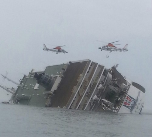 A South Korean Passenger ship carrying more than 470 people, mostly high school students has capsized. (Photo: Reuters)