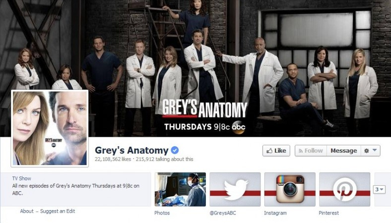 Grey's Anatomy (Facebook/Screengrab)