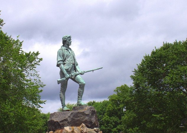 Patriot's Day 2014: Statue of the Lexington Minuteman on the Lexington Green in Lexington, Massachusetts. (Photo: Wikimedia Commons/w:User:Daderot)