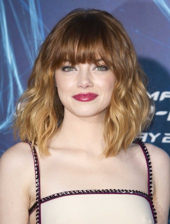 "Actress Emma Stone arrives for ""The Amazing Spider-Man 2"" premiere in New York"