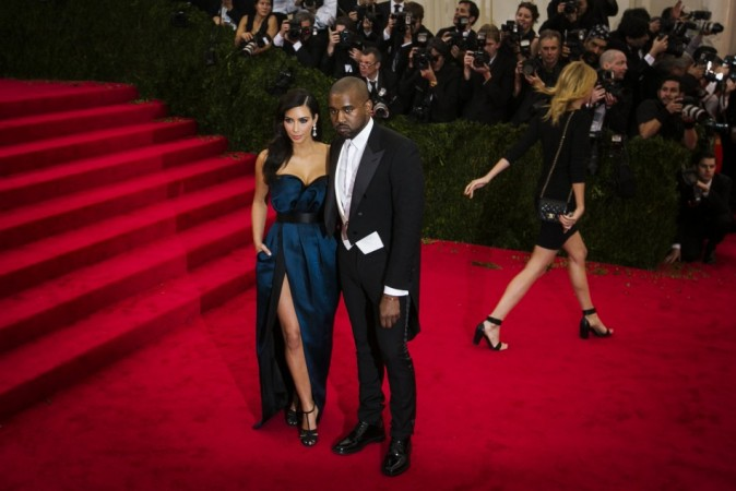 Kim Kardashian and Kanye West arrive at the Metropolitan Museum of Art Costume Institute Gala Benefit in New York