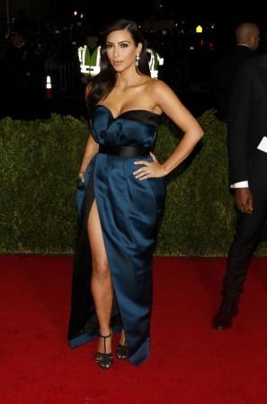 Kim Kardashian arrives at the Metropolitan Museum of Art Costume Institute Gala Benefit in New York