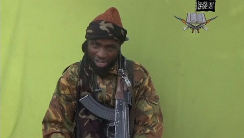 Boko Haram leader Abubakar Shekau speaks at an unknown location in this still taken from an undated video released by the outfit.