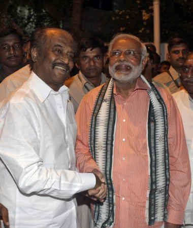 Narendra Modi with Rajinikanth