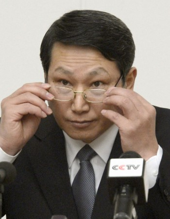 File photo of South Korean missionary, identified by the North as Kim Jong Uk, in Pyongyang