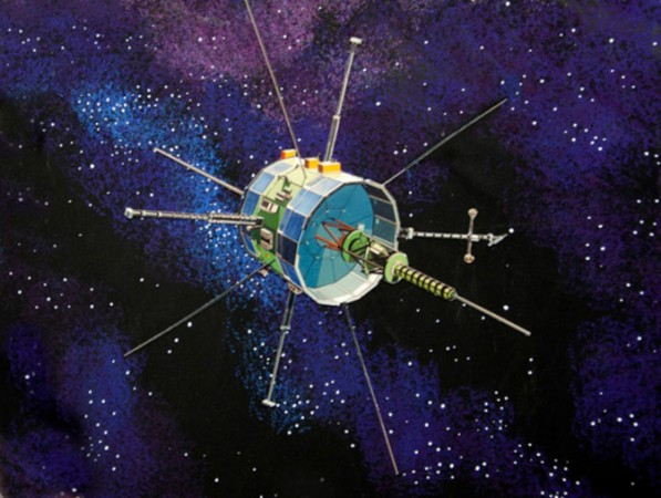 Artist's concept image of ISEE-3 (ICE) spacecraft (NASA)