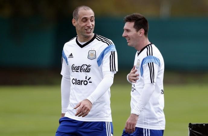 Pablo Zabaleta Lionel Messi Argentina