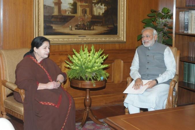 Jayalalithaaa meets Modi