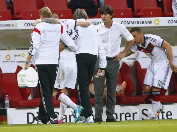 Marco Reus and Joachim Low