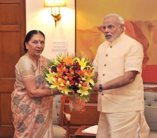 Anandiben Patel meets Narendra Modi