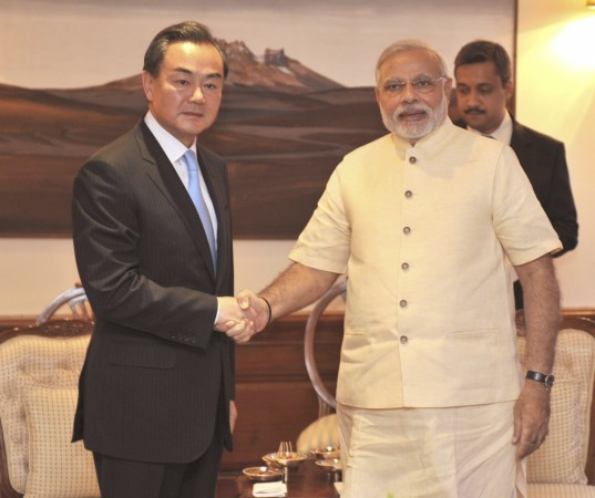 Narendra Modi met with Chinese foreign minister Wang Yi on Monday