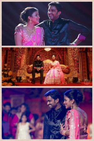 Amala Paul and A.L. Vijay at their Sangeeth