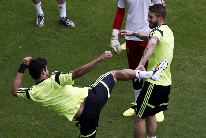 Spain Diego Costa Sergio Ramos