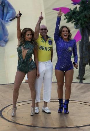 Jennifer Lopez, Pitbull and Claudia Leitte
