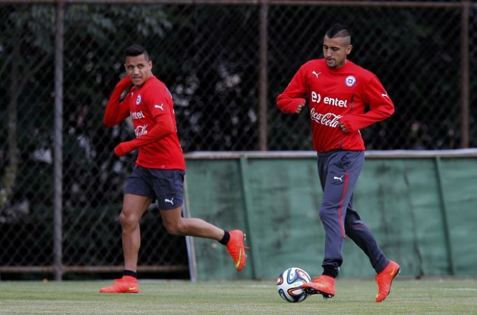 Chile Arturo Vidal Alexis Sanchez