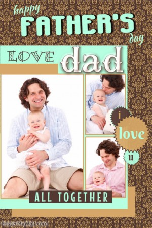 Father's Day 2014 has arrived. Image: Postermywall.com (public domain dedication)