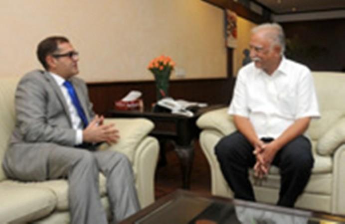 Burak Akcapar meets Ashok Gajapathi Raju