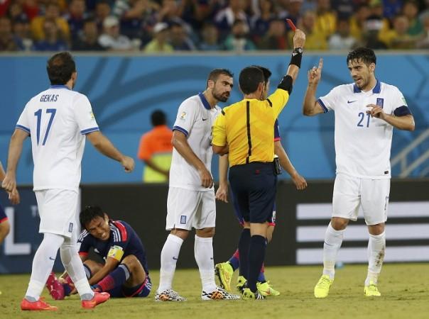 Katsouranis Greece referee Japan