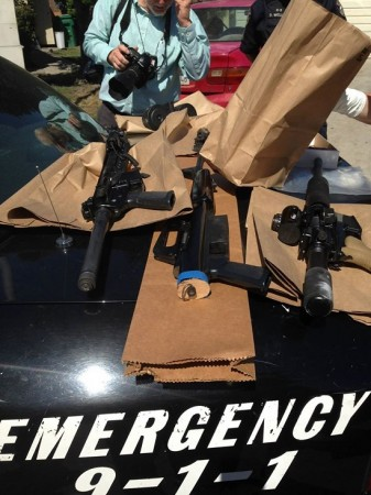Weapons and Ammo seized in the raid