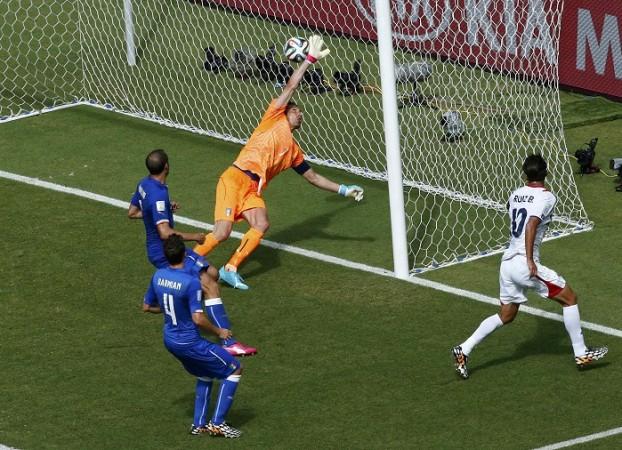 Bryan Ruiz Costa Rica Gianluigi Buffon Italy