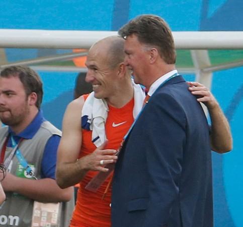 Louis Van Gaal Arjen Robben Netherlands