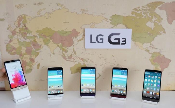 LG G3 put on display