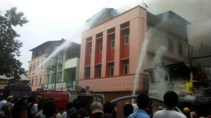 Fire in Imphal, Manipur