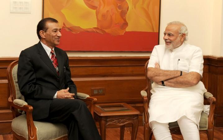 PM Narendra Modi with Nagaland Governor Ashwani Kumar