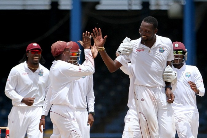 Windies Team celebrate