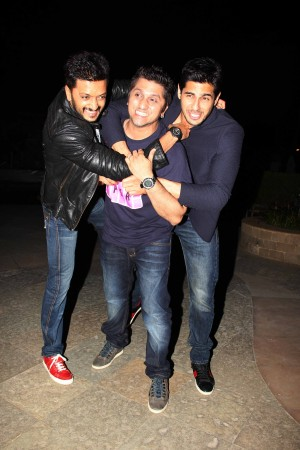 Riteish Deshmukh, Mohit Suri and Sidharth Malhotra at the