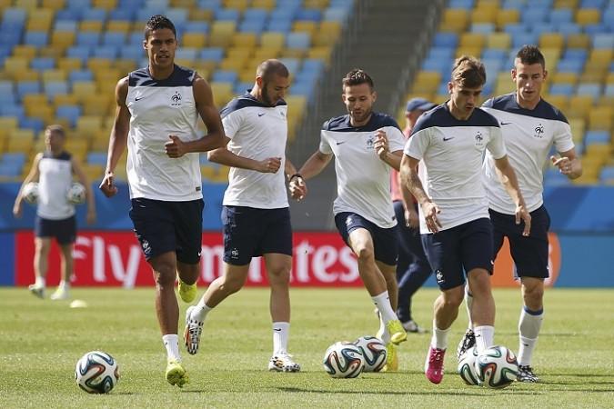 France Varane Benzema Cabaye Griezmann Koscielny