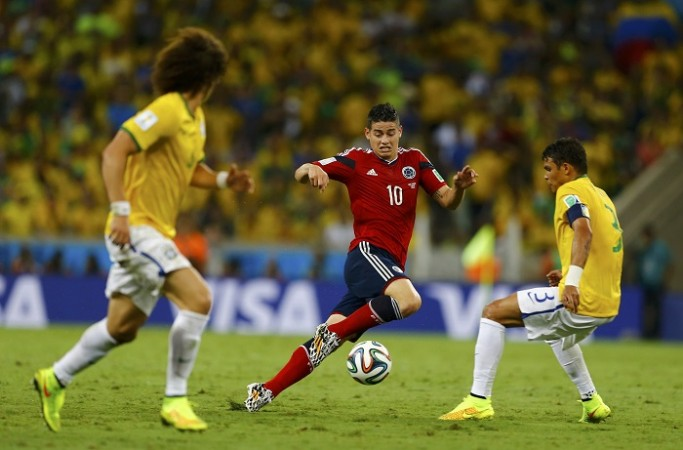 James Rodriguez Colombia Brazil David Luiz Thiago Silva