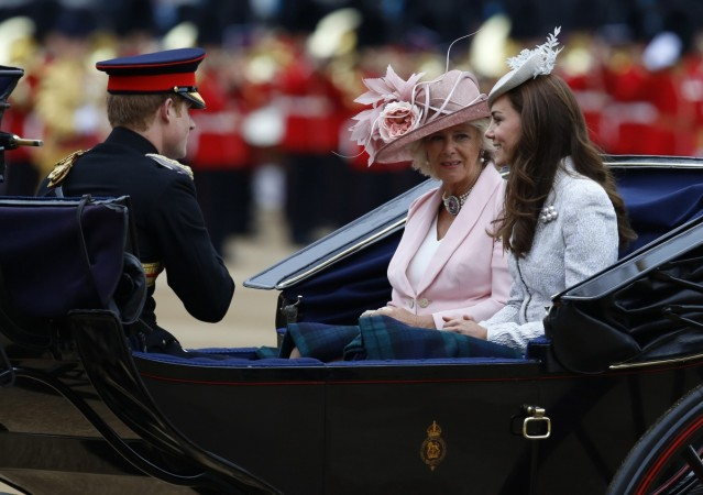 Prince Harry, Camilla Parker Bowles and Kate Middleton