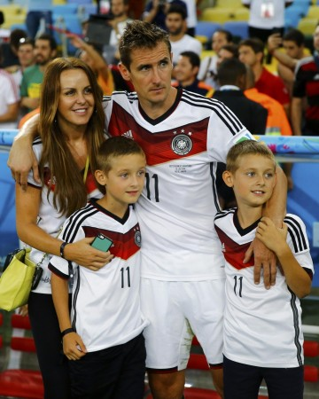 Miroslav Klose and Sylwia Klose