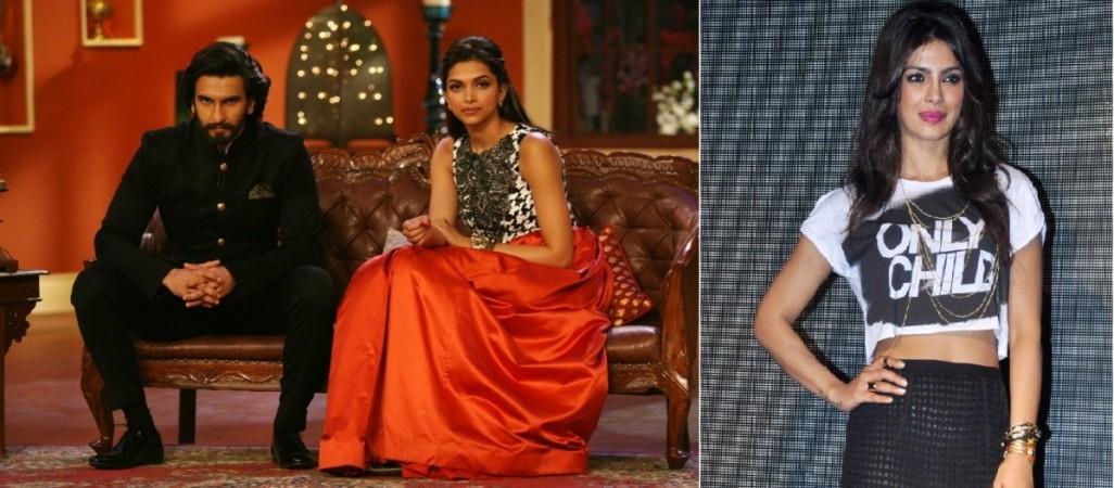 Ranveer Singh, Deepika Padukone and Priyanka Chopra