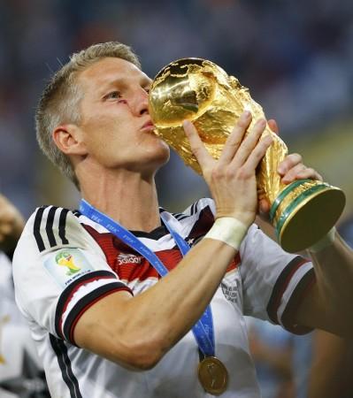 Bastian Schweinsteiger Germany World Cup trophy